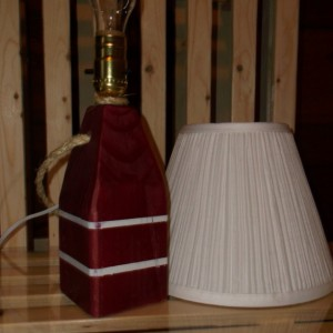 Nautical Lobster Buoy Lamp. Made in Maine Comes with Lamp Shade