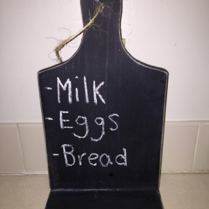 Chalkboard Cutting Board Tablet Stand