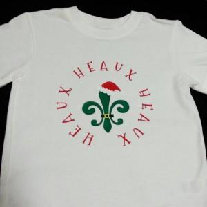 Heaux Heaux Heaux Cajun Christmas handmade toddler t-shirt