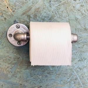 Pipe Toilet Paper Holder -- Industrial, Rustic, Farmhouse, Steampunk, Modern Bathroom Decor & Storage