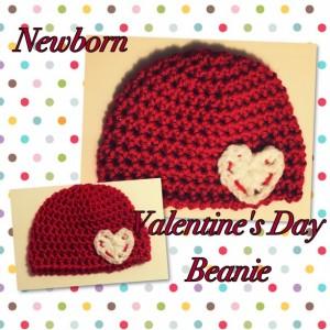 Baby Valentine's Day Beanie