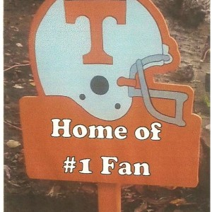 Football Team Wood Yard Sign