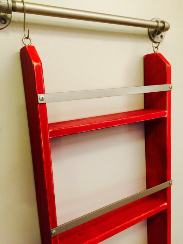 Wood Ladder Shelf Distressed Ladder Shelf Chippy Paint