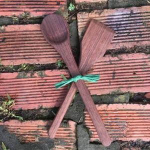 Wooden Spoon and Spatula Set - Walnut Wood - Ambidextrous