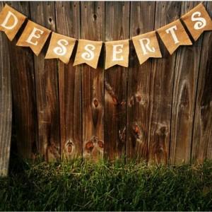Burlap 'Desserts' Banner