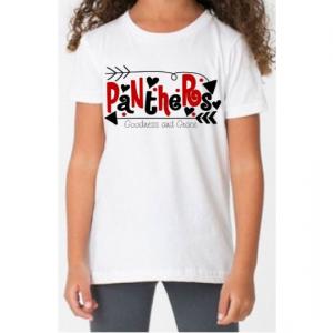 School Spirit Mascot Shirt in Your School's Colors - Fun for Back to School - Cheer Shirt - Football Monogram - Panthers Jackets Huskies etc