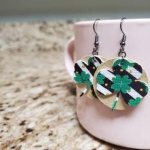 St. Patrick's Faux Leather Earrings