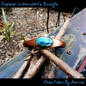 Copper Labradorite Bangle