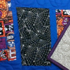 Halloween table runner. Quilted Halloween table decor. Handmade Halloween table topper.