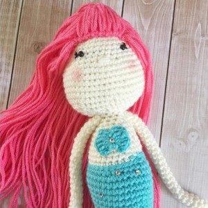 Little Miss Mermaid Sisters Doll Plush Toy/ Photography Prop/ Stuffed Toy / Soft Toy/Amigurumi Toy- MADE TO ORDER