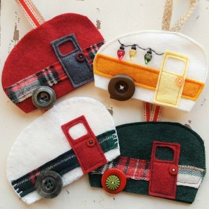 Vintage Camper Holiday Ornament