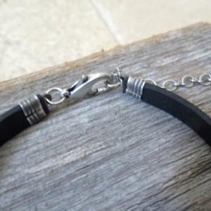 Men's Personalized Bracelet - Men's Engraved Bracelet - Customized Men Bracelet -  Men's Initial Bracelet - Men's Coordinates Bracelet