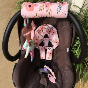 Car Seat Head Support, Blush Pink, Peach, Floral, Infant Head Support, Strap Covers, Car Seat Arm Pad, Newborn Headrest, Baby Shower Gift