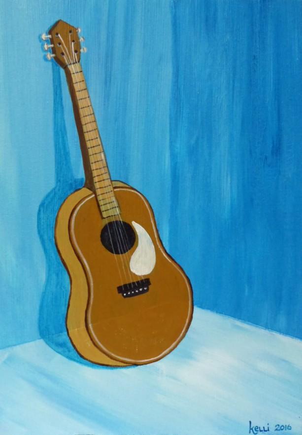 """Waiting to be Played"" original painting"