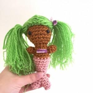 Mini amigurumi mermaid, mermaid, crochet mermaid, handmade mermaid, mermaid doll, mermaid toy, purple mermaid, amigurumi, mermaid doll, ooak