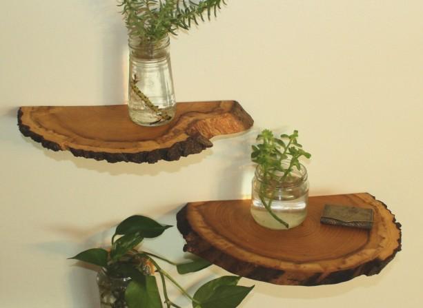 Shelves, Wood Slab Shelves, Wood Shelf, Natural Wood Shelves, Wood slice shelves, Natural shelf, Rustic shelf, Vintage Shelf, Vintage style