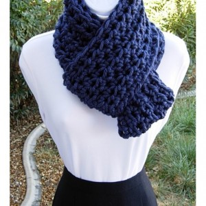 Dark Solid Navy Blue INFINITY SCARF Loop Cowl, Soft Bulky Chunky Acrylic, Thick Crochet Knit Winter Circle Scarf..Ready to Ship in 3 Days