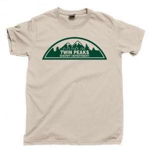 Twin Peaks Men's T Shirt, Sheriff Department Harry S. Truman Tommy Hawk Hill Dale Cooper Laura Palmer Owl Cave Killer Bob Unisex Cotton Tee Shirt