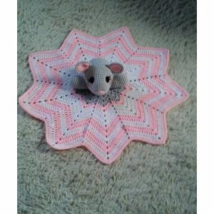 Mouse Lovey Baby Blanket, Comfort Blanket, Security Blanket, Baby Blanket, Baby Shower Gift