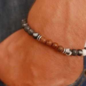 Men's Beaded Bracelet - Men's Cuff Bracelet - Men's Bracelet - Men's Jewelry - Men's Gift - Husband Gift - Boyfriend Gift - Present For Men