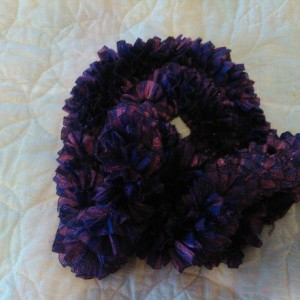 Purple lavander ribbon scarf