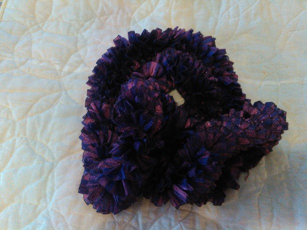 Purple lavander ribbon scarf