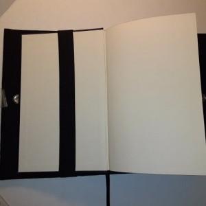 Read E-Z book cover/holder in Sugar Skulls fabric