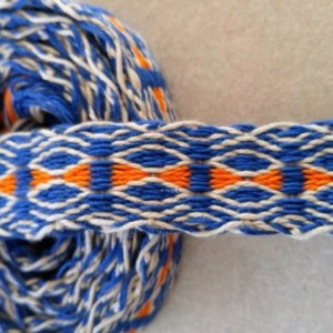 Inkle, Handwoven Inkle belt, handwoven inkle belt,Boho chic,Natural, Royal Blue, and Orange, Inkle belt, SCA, Renessance, mountain man