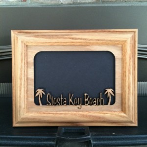 Personalized Tropical Beach Picture Frame 5x7