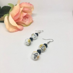 Throw Painting Dangle Earrings