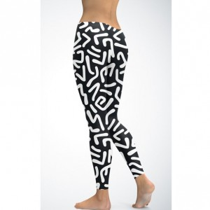 90's abstract print leggings