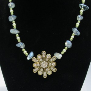 Industrial Spring Beaded Necklace