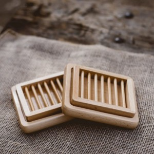 Natural Wooden Soap Dish Perfect for set of 2