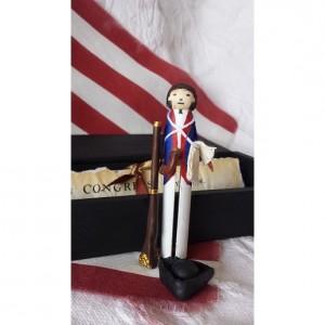 Handmade Mini American Revolution Soldier w/Accessories Gift Set