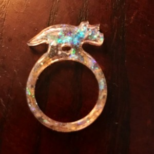 Animal resin rings