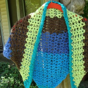 Shawl, tied shawl, shawls, blue shawl, ocean, ocean shawl, beach wear, beachwear