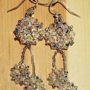 Crystal Falling Snowflake Earrings