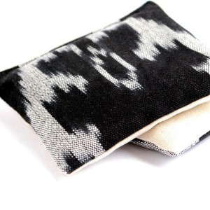 Black and White Ikat Cotton & Linen Organic Lavender Sachets