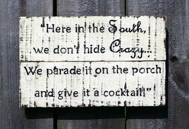Handmade Rustic Distressed Relcaimed Pallet Wood Southern Sign