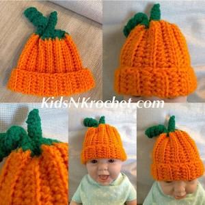 Pumpkin beanie, you choose size