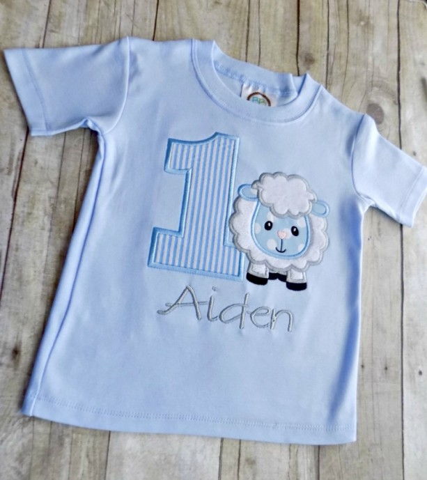 Numbers Boys Lamb Birthday T Shirt Boy Shirts Toddlers