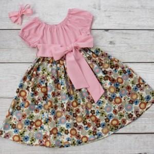 APRIL- Girl Spring Floral Dress