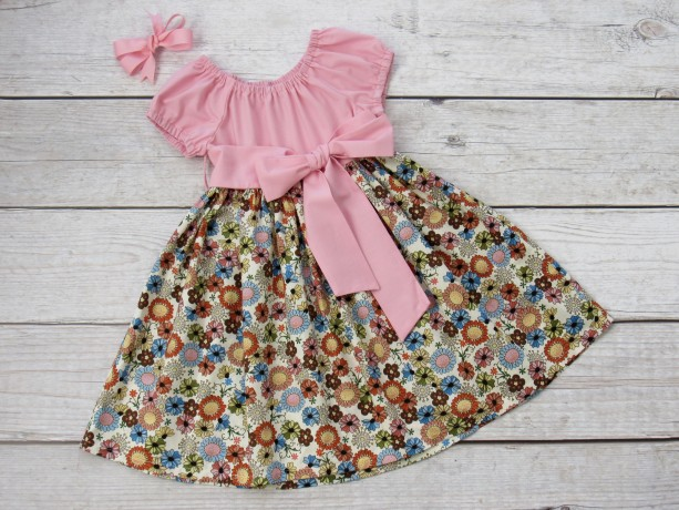 APRIL- Girl Spring Floral Dress
