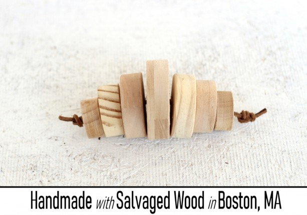 Round Block Baby Rattle - Unfinished Pine - Handmade With Salvaged Wood
