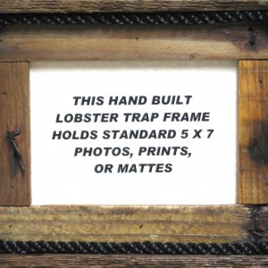 Hand Made Lobster Trap Picture frame
