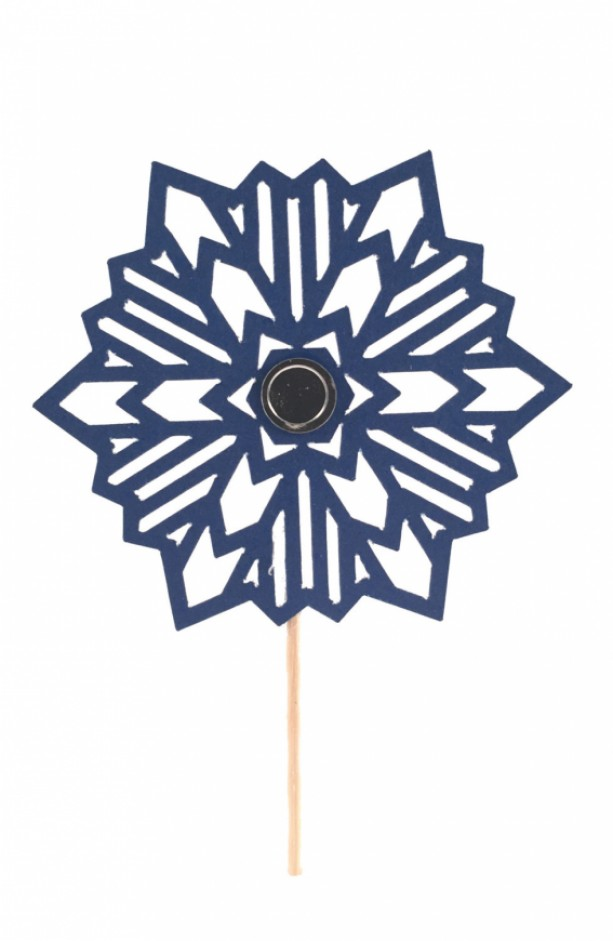 Snowflake Cupcake Toppers - Set of 12
