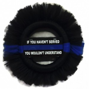 "Thin Blue Line 26"" Police Officer Support Wreath"