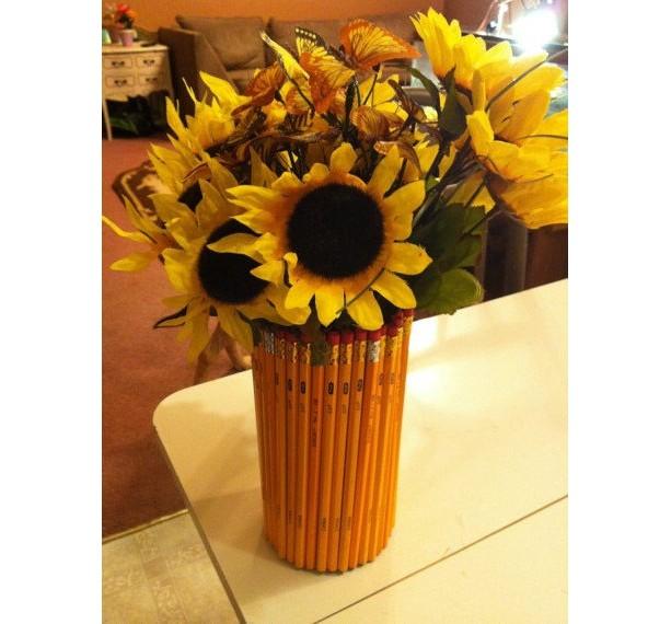 Teacher Appreciation Pencil Vase Aftcra