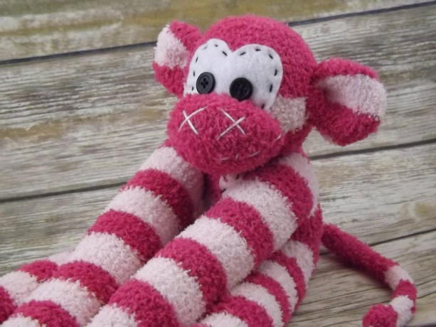 Sock monkey : Anna~ The original handmade plush animal made by Chiki Monkeys