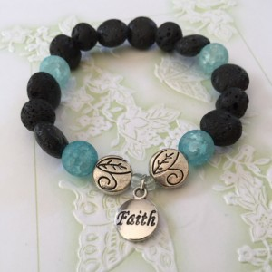 Faith Aromatherapy Essential Oil Diffusing Bracelet